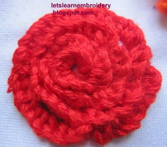 Let's learn embroidery: Rose-spiral buttonhole knot