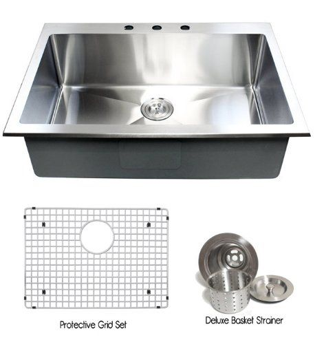33 inch top mount   drop in stainless steel single bowl kitchen sink 15 33 inch top mount   drop in stainless steel single bowl kitchen      rh   pinterest com