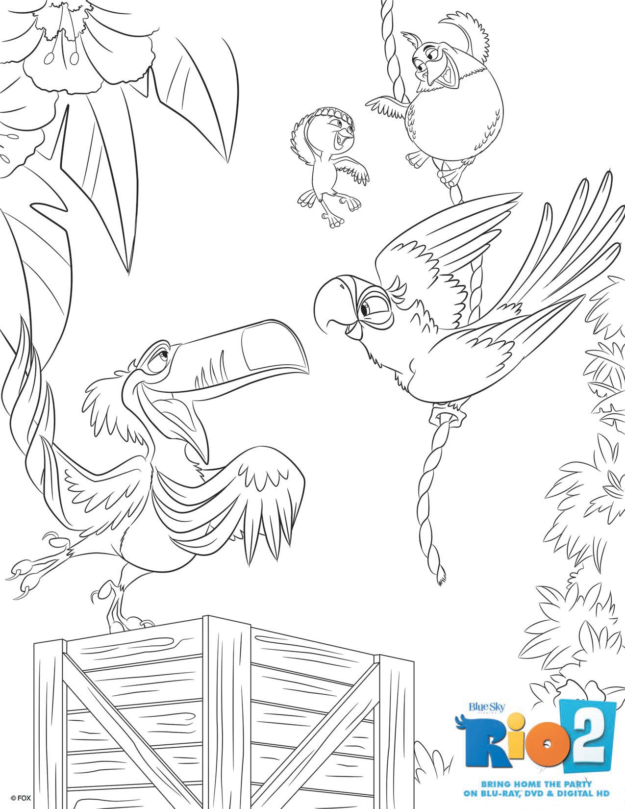 Rio 2 Coloring Pages To Download Part 2 Disney Desenhos