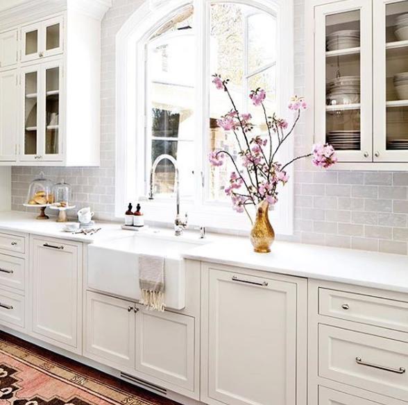 White Kitchen Cabinets Upkeep: Cottage Kitchen Cabinets, White