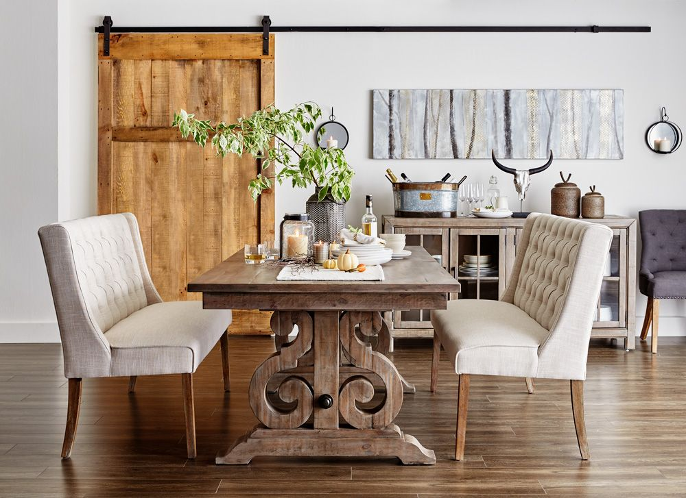 Keswick Dining Table With Caroline Dining Benches Dining Room