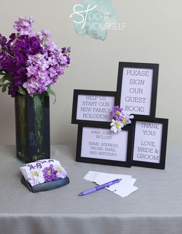 diy rolodex books and wedding