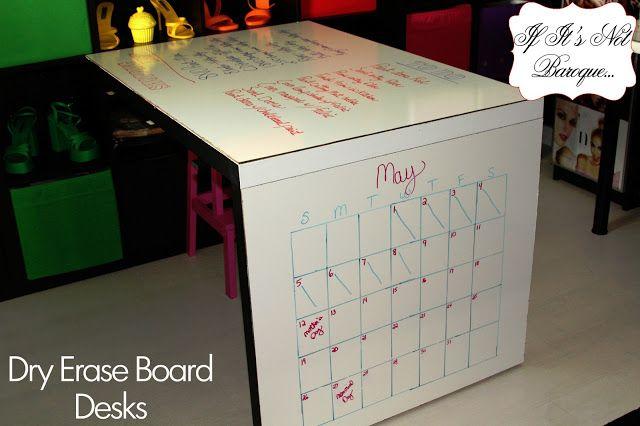 dry erase board desk!
