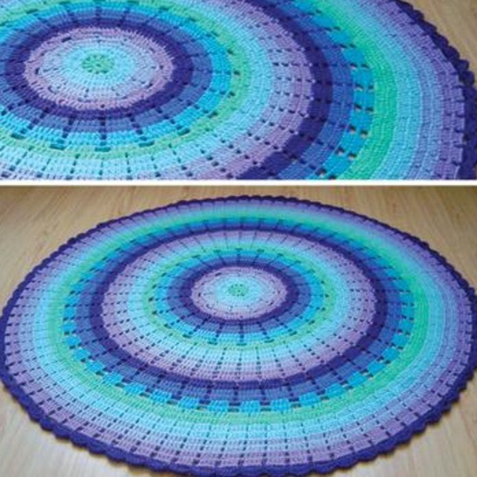 Rainbow Ripple Crochet Blanket Pattern | Mandalas