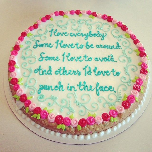 Custom cookie cakes for your best friend or worst enemy Delivered