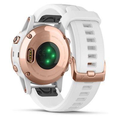 Garmin Fenix 5S Plus Sapphire Watch - Rose Gold/White