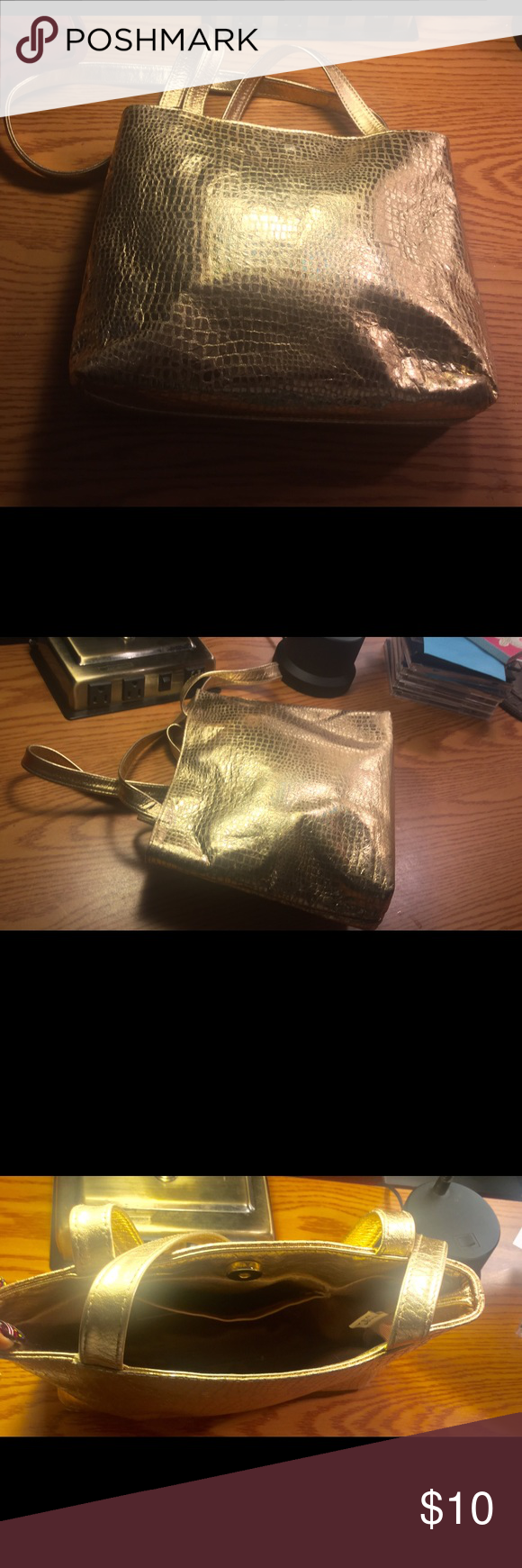 Gold Metallic Shoulder Bag Small Bags Shoulder Bags