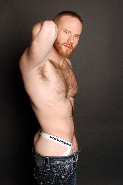 young hairy redhead Very