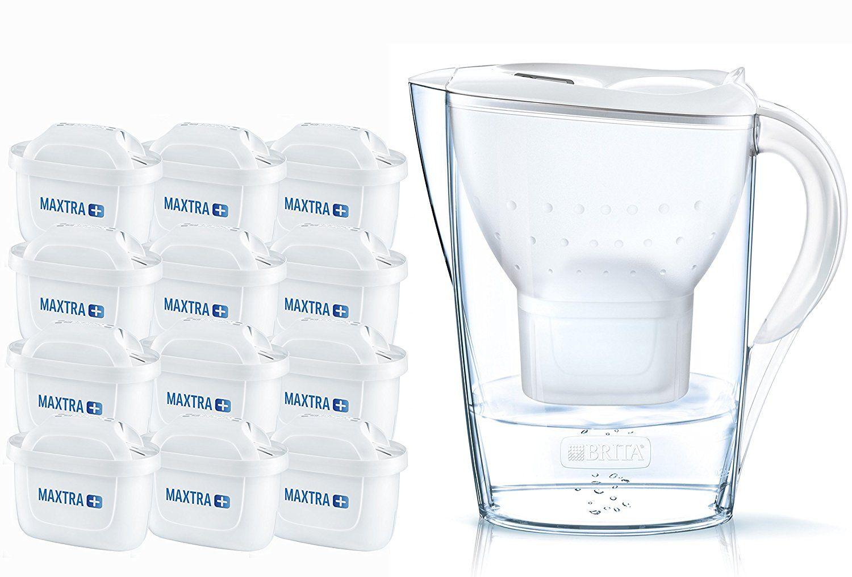 Brita Wasserfilter Jahrespaket Marella, inkl. 12 Maxtra+ ...