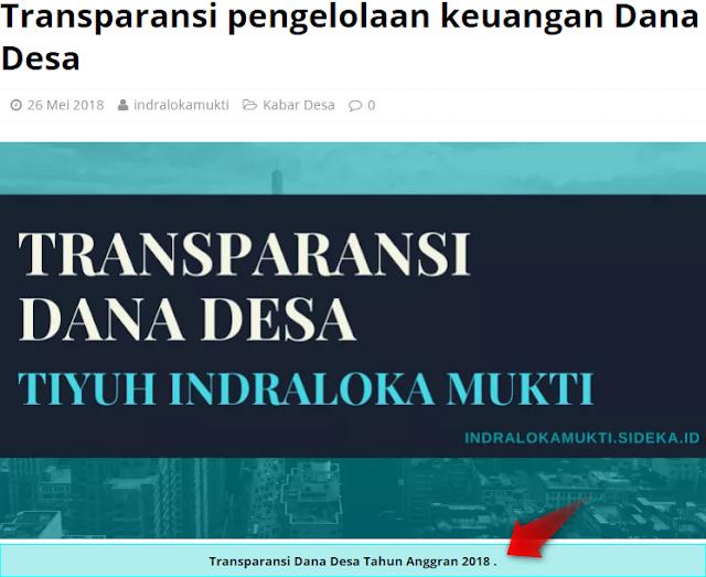 Cara Membuat Tabel Caption Gambar Website Desa (SiDeKa