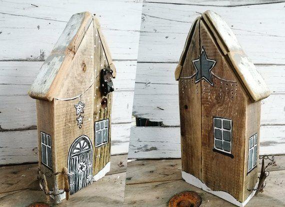Weihnachtshaus Weihnachtshauschen Haus Hauschen Aus Holz