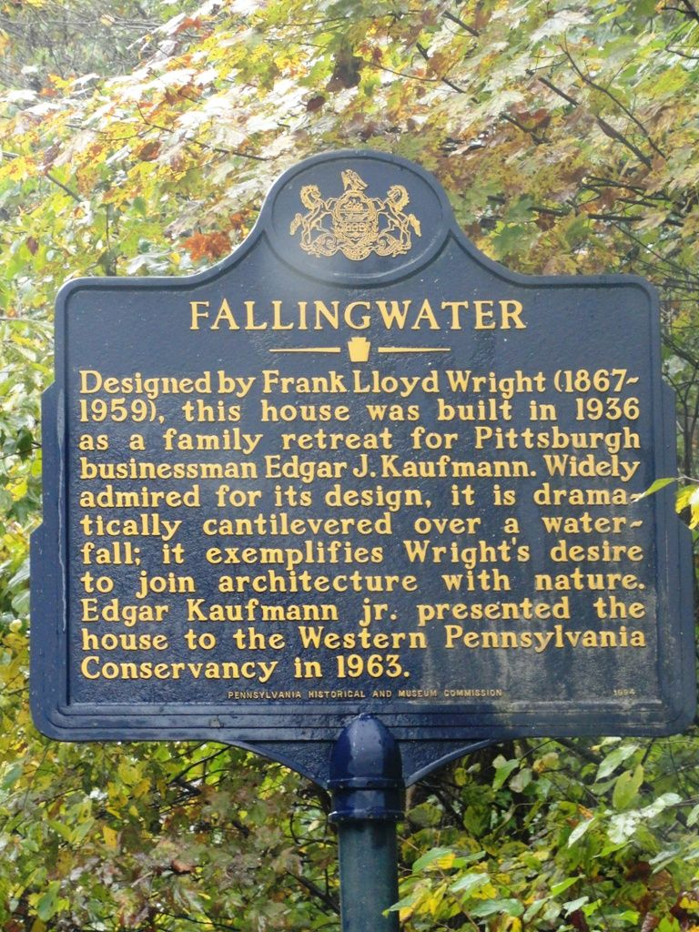 Falling Water Mill Run PA Frank Lloyd Wright Places To Visit