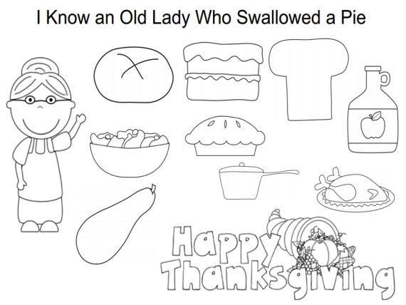 Pumpkin Pie Coloring Sheet Images