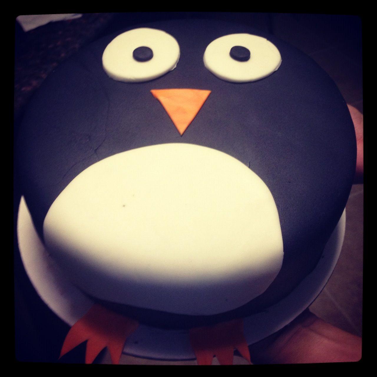 My Penguin Birthday Cake Super Easy To Make Eva Wants Pink