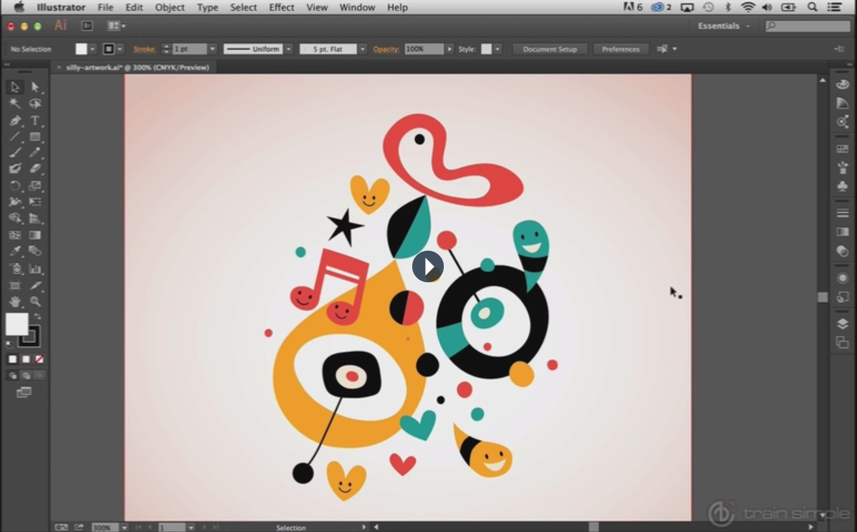 the many uses of adobe illustrator The feature is called select subject and it uses adobe's ai platform,  it will  automatically identify and select the various subjects in the image.
