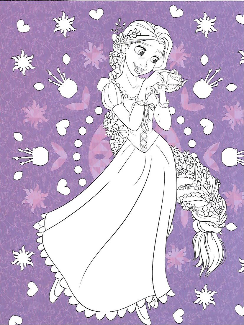 Pin by marjolaine grange on coloriage raiponce in 2018 | Pinterest ...