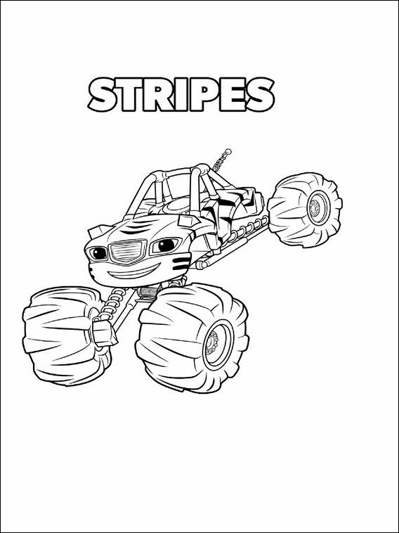Blaze And The Monster Machines Coloring Pages 10 Monster Truck