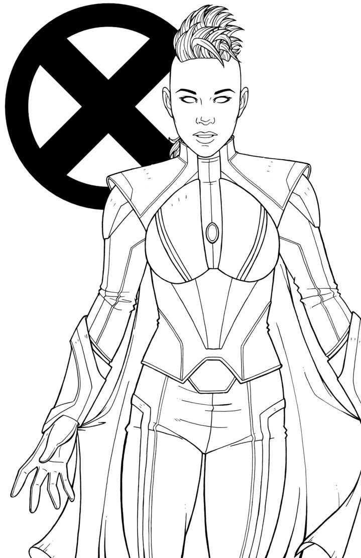 Storm By Jamiefayx Marvel Coloring Avengers Coloring Colouring Pages
