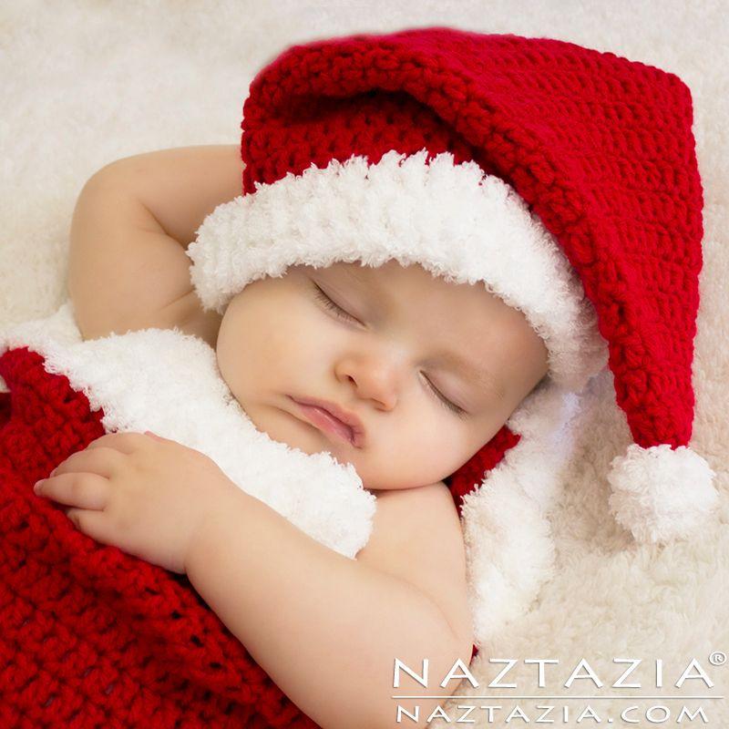 bc6cd7697 Santa Hat and Cocoon | baby | Crochet christmas hats, Crochet baby ...