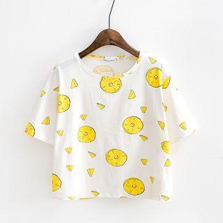 Sunny Day - Fruit Print T-Shirt