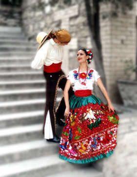 N China Poblana Vestuario Típico Puebla México