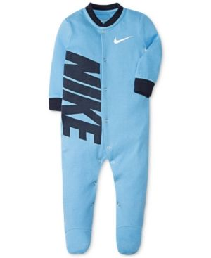 8b4f6bd71 Nike Baby Boys Footed Cotton Coverall - Blue 3 months