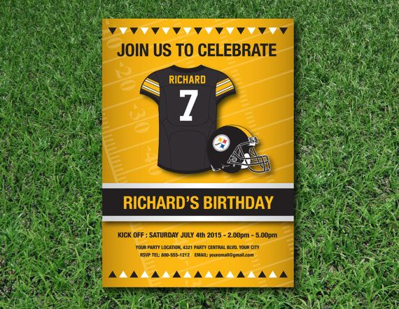 Pittsburgh steelers birthday invitation nfl by weirdbearddesigns pittsburgh steelers birthday invitation nfl by weirdbearddesigns filmwisefo