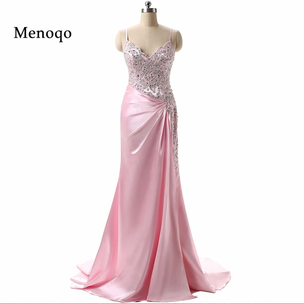 2017 New Design Dazzling Beaded Spaghetti straps Long Mermaid Prom ...