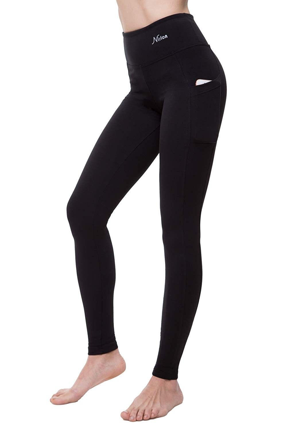 Yoga Pants for Women High Waist Tummy Control Athletic Workout Running Leggings with Sides Pockets -...
