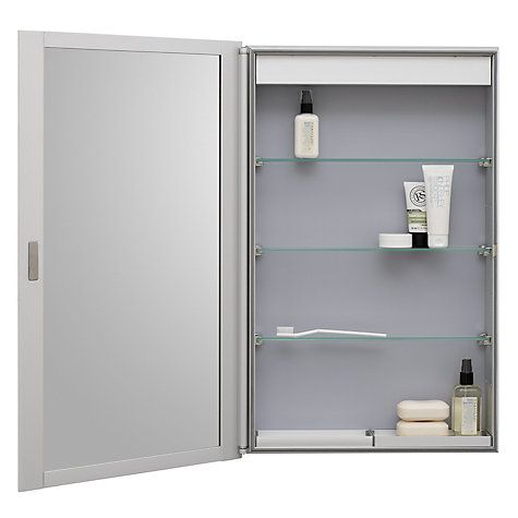 Roper rhodes limit slimline single bathroom cabinet with for Bathroom cabinets john lewis