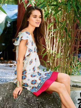 Burda Volant kleid mit detaillierter Anleitung | Pattern - Woman ...