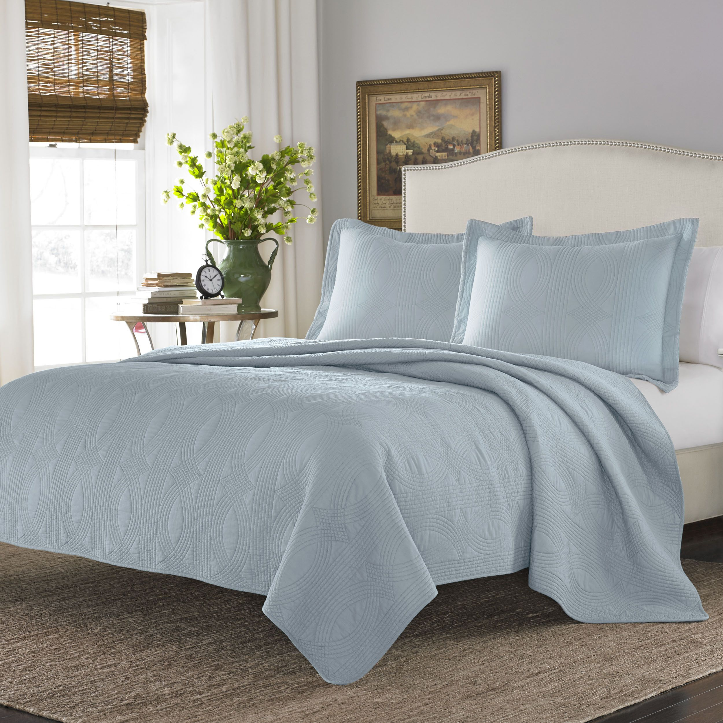 sheridan blue light quilt set mardella cover