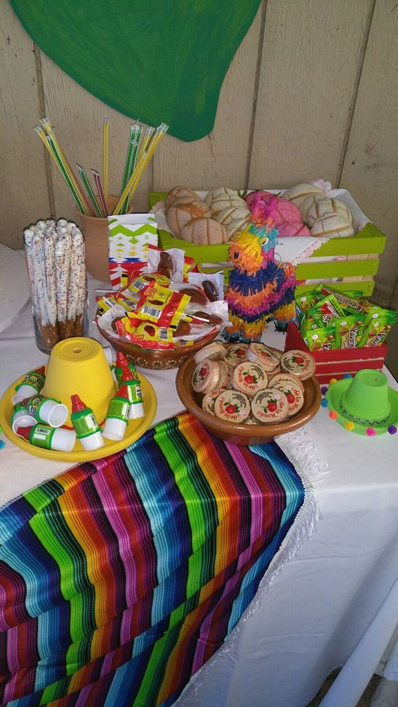 Fiesta Baby Shower Candy Table Mexican Party Theme