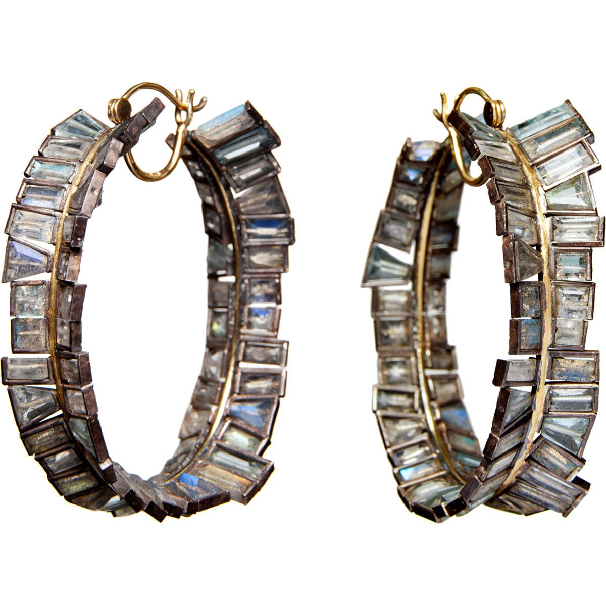 Nak Armstrong Aquamarine Hoop Earrings