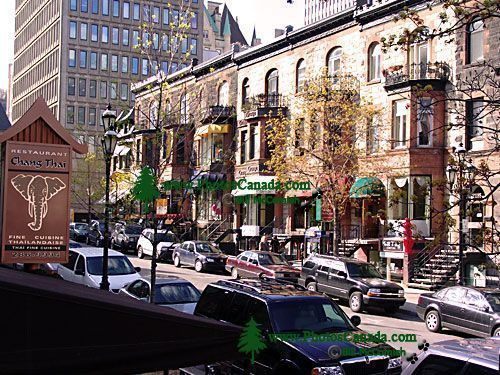 Crescent Street in Montreal - has some great boutiques, restaurants and pubs.