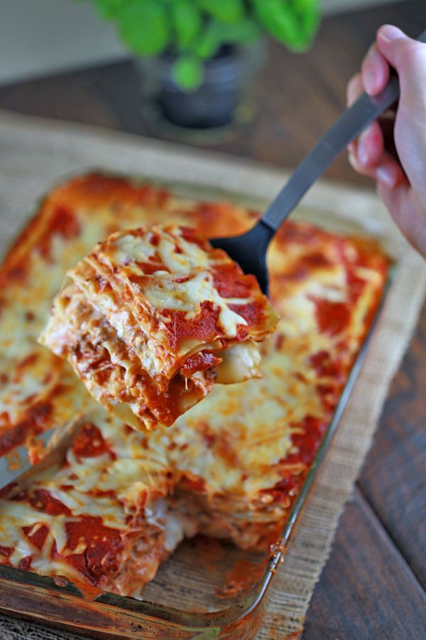 Lasagna With Ground Beef And Pork Sausage Jessica Gavin Recipe Easy Lasagna Recipe With Ricotta Food Easy Lasagna Recipe