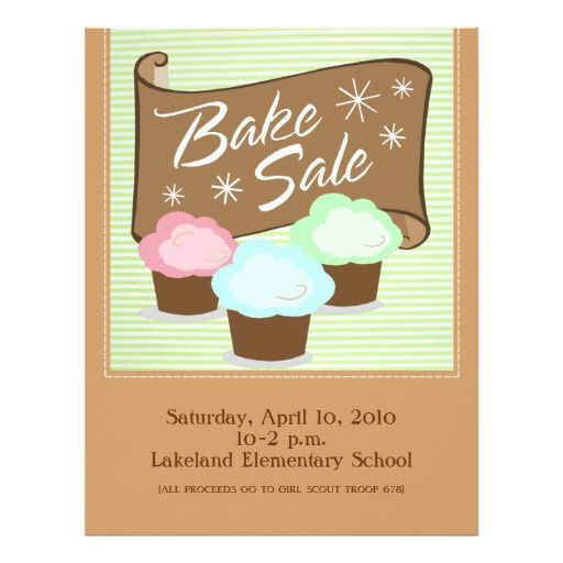 Bake Sale Flyers | Bake Sale Flyer And Bake Sale