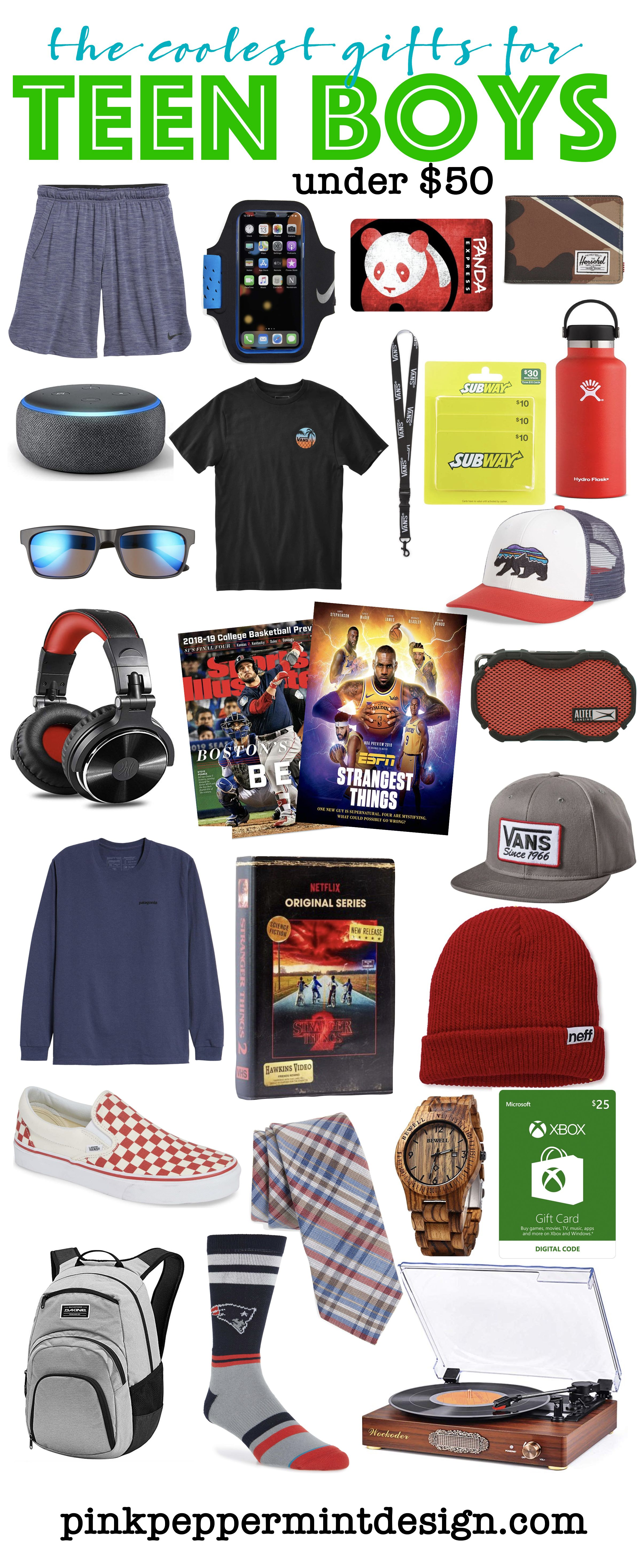 16ab3ec89f384 The Coolest Gifts for Teen Boys Under  50. Looking for the perfect gift for  those hard to buy for teenage boys  Look no further!
