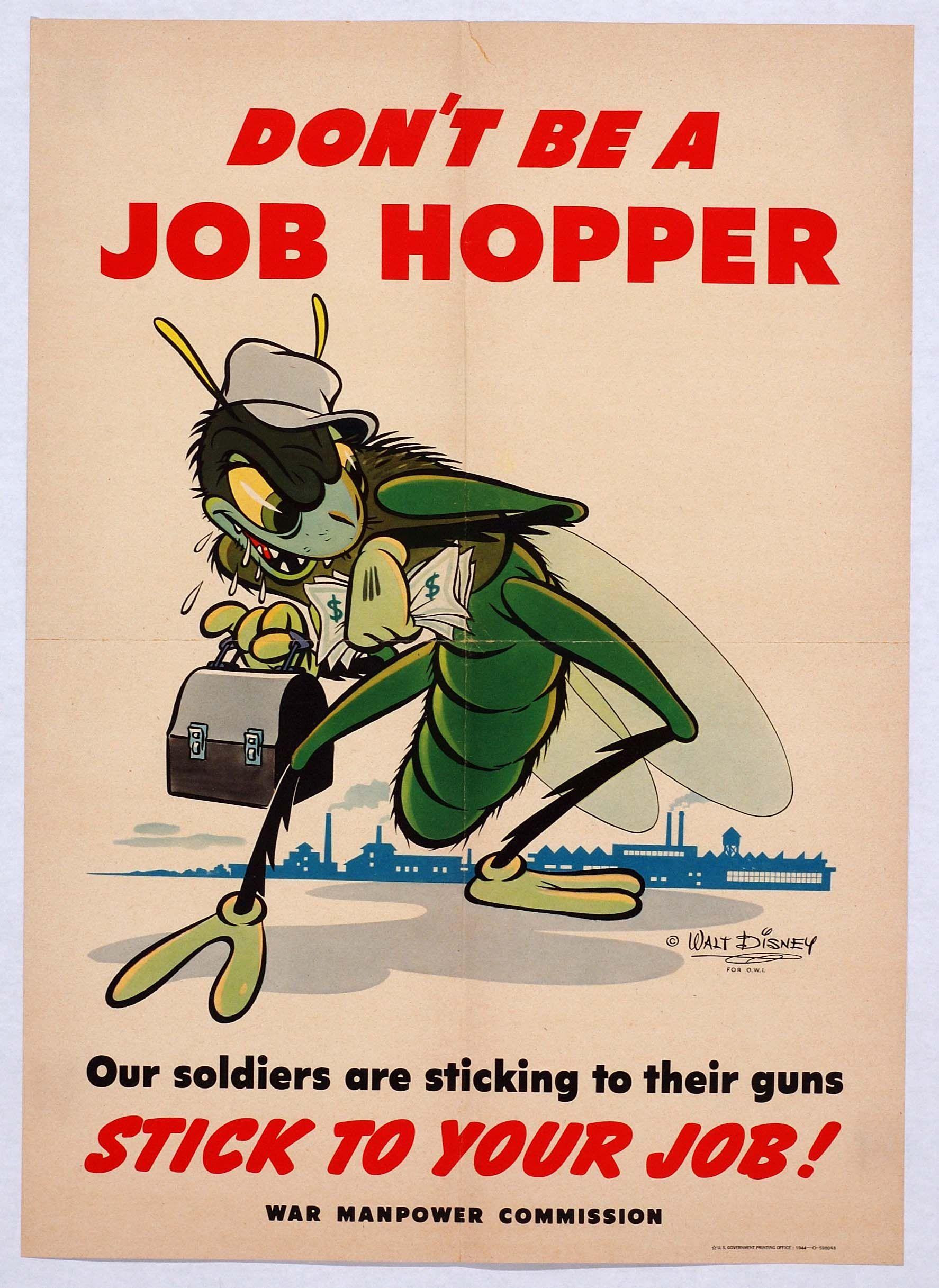 Were Vintage world war 2 posters English word