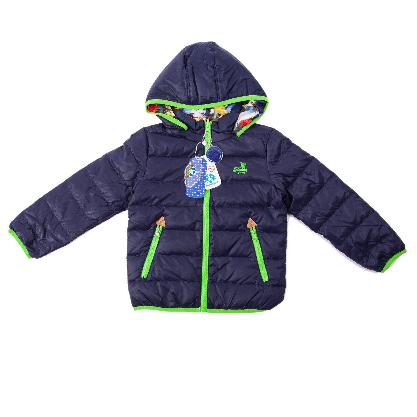 Boys Lightweight Puffer Jacket Lite Double Side Wear Down Jacket With Hood Contrast Pop Color And Embossed By Ikali 4 6y Jackets Puffer Jackets Down Jacket [ 1400 x 1400 Pixel ]