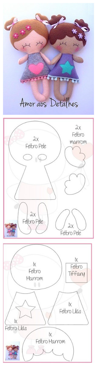 Pin de maria loyola en Ideas muñecas   Pinterest   Fieltro, Muñecas ...