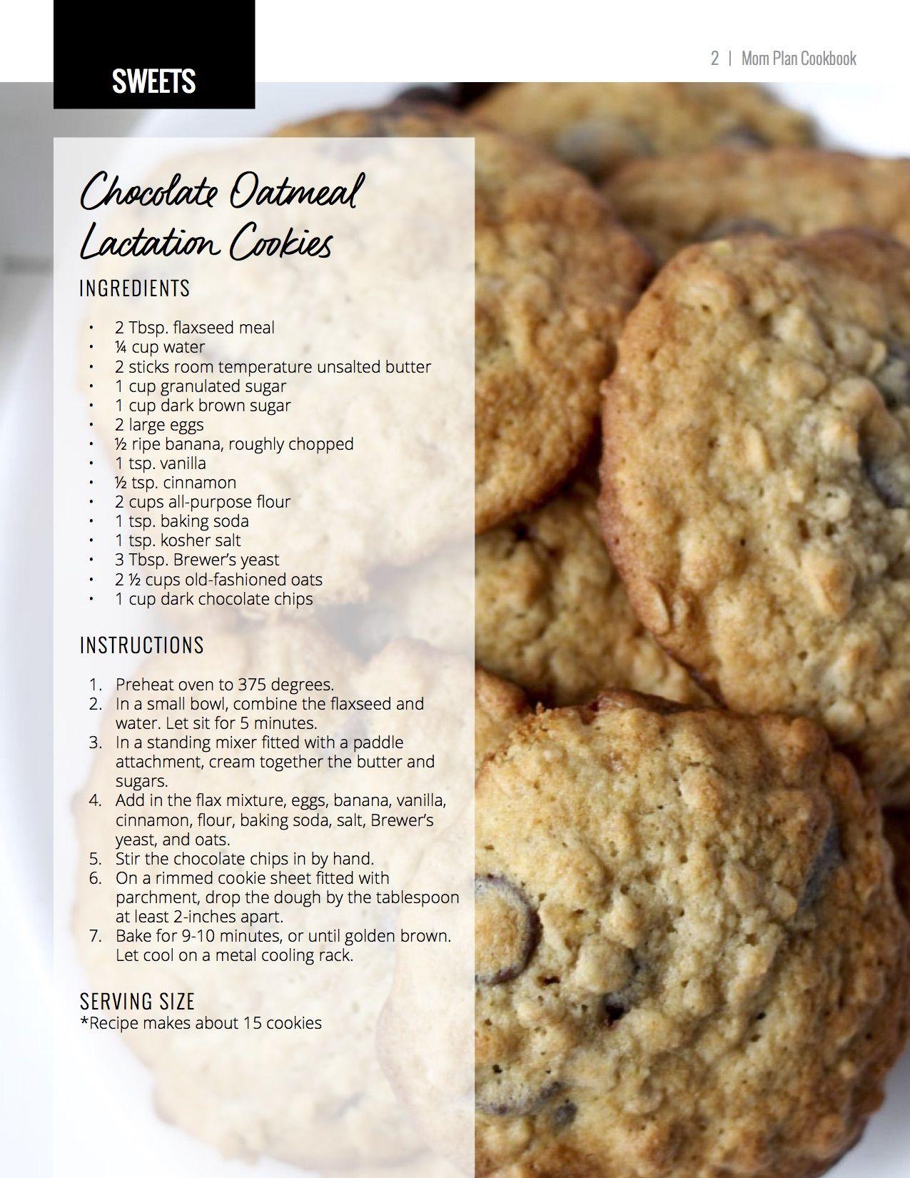 Chocolate Chip Lactation Cookie Recipe Lauren Gleisberg Recipe Lactation Cookies Baby Food Recipes Lactation Cookies Recipe