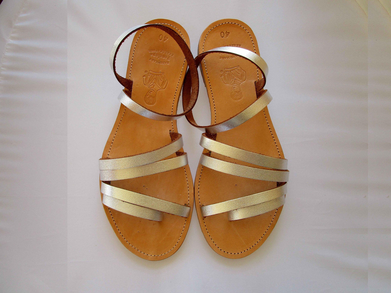 Wedding sandals Greek sandals Silver sandals PENELOPE Leren sandalen Leather sandals Sandals