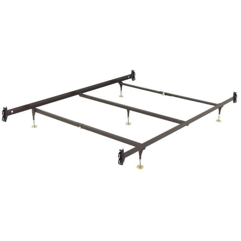 Queen Size Metal Bed Frame With Hook On Headboard Footboard Brackets
