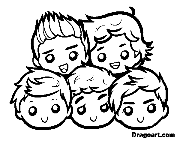 one direction coloring pages cartoon animals | one direction coloring pages | Coloring page One Direction ...