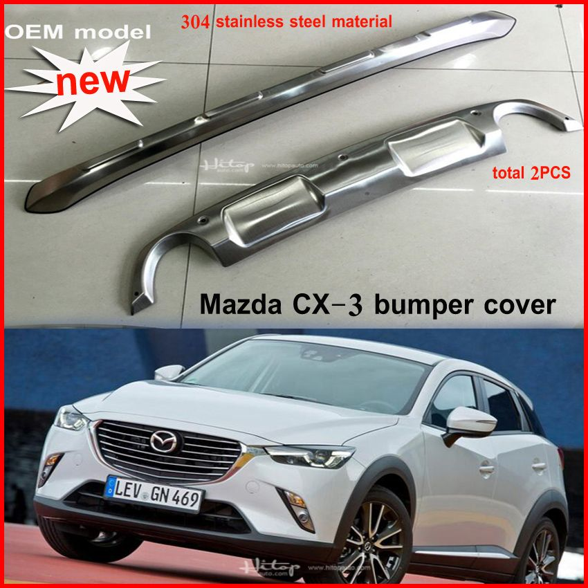 Mazda CX-3 New OEM rear stainless steel bumper guard accessory