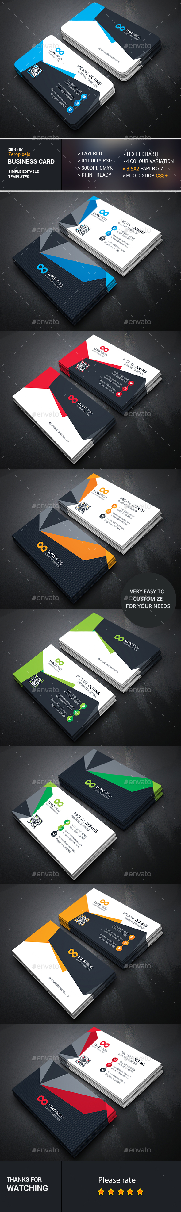 Business Card Template PSD Bundle Download here