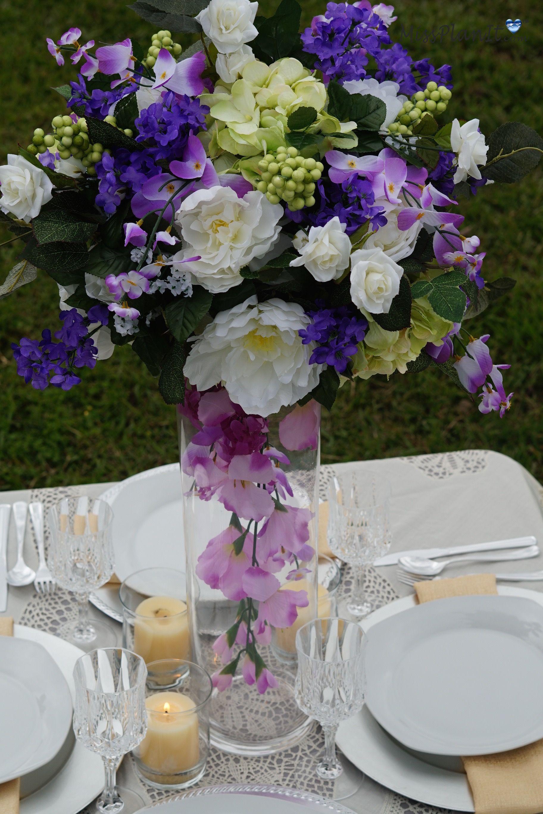 Lilac wedding decoration ideas  DIY Tutorial Spring Bouquet Tall Vase Wedding Centerpiece  Tall
