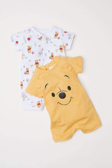 H M 2-pack Jumpsuits - Yellow 1c8f3cebe77