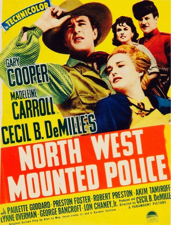 North West Mounted Police Paulette Godard movie poster print